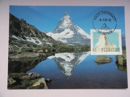 CARTE MAXIMUM CARD ZERMATT SUISSE - Cartes-Maximum (CM)