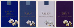 Hotel Keycard -  4 Diff. Conrad Maldives, Bangkok, Dubai, Koh Samzi Xy022 Orchidea - Cartes D'hotel