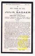 DP Julia Sagaer ° Bekegem Ichtegem 1873 † Ettelgem Oudenburg 1922 X Ed. Cooleman - Devotion Images