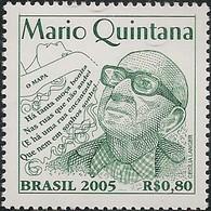 BRAZIL - 99th BIRTH ANNIVERSARY OF MARIO QUINTANA (1906-1994), BRAZILIAN WRITER 2005 - MNH - Brazil