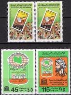 Schulausstellung 1980 Libya 849/0+875/6 ** 5€ Recht Im Volk Arzt Avicenna Stamp On Stamps #622 Technic Sets Bf EXPO - Militaria