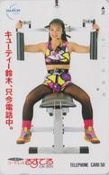 Télécarte Japon / 390-06180 - Femme GYMNASTIQUE Musculation - Girl Sport Japan Phonecard - Haltérophilie - 76 - Avions