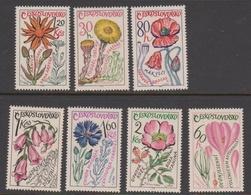 Czechoslovakia SG 1538-1544 1965 Medicinal Plants, Mint Never Hinged - Czechoslovakia
