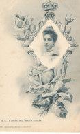 A M 184 /  C P A - ESPAGNE ROI REINE - S A. LA INFANTA  D MARIA TERESA - Familles Royales
