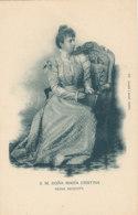 A M 187 /  C P A - ESPAGNE ROI REINE - S A. DONA MARIA CRISTINA REINA REGENTE - Familles Royales
