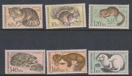 Czechoslovakia SG 1682-1687 1967 Fauna, Mint Hinged - Czechoslovakia