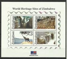ZIMBABWE 2005  WORLD HERITAGE SITES SHEET MNH - Zimbabwe (1980-...)