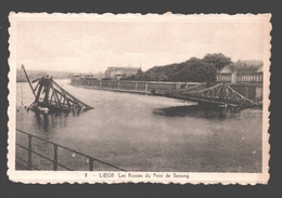 Liège - Les Ruines Du Pont De Seraing - éd. Phototypie Légia - Carte Dentelée - Liege
