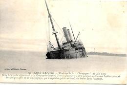 CPA-1915-PAQUEBOT-CHAMPAGNE-NAUFRAGE Sur La Roche Du Casino A St Nazaire-15 Mai 1915-TBE - Paquebots