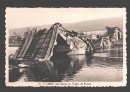 Liège - Les Ruines Du Viaduc De Renory - éd. Phototypie Légia - Carte Dentelée - Liege