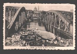 Liège - Les Ruines Du Pont Val Benoit - éd. Phototypie Légia - Carte Dentelée - Liege