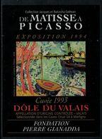 Rare // Etiquette De Vin // Art-Peinture // Dôle Du Valais, De Matisse à Picasso - Art