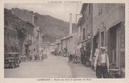 CPA Labégude - Route De Vals Et Quartier Du Pont (avec Jolie Animation) - France