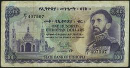 ETHIOPIA - 100 Dollars Nd.(1961) VG + P.23 - Ethiopie