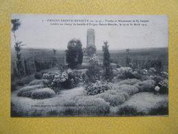 ORIGNY SAINTE BENOITE. La Tombe Et Le Monument De 87 Français Tombés Au Champ De Bataille. - Other Municipalities