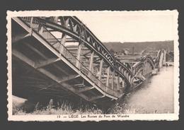 Liège - Les Ruines Du Pont De Wandre - éd. Phototypie Légia - Carte Dentelée - Liege