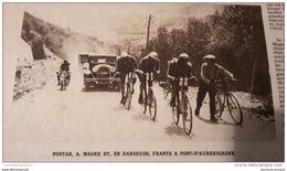 1928 TOUR DE FRANCE CYCLISTE - Nicolas FRANTZ - PONT D´AUBERSSAGNE - GALIBIER - LAUTARET - MARATHON - TENNIS WIMBL - Ohne Zuordnung