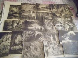 LOT DE 20 CARTES GROTTE DE HAN ....BELGIQUE - Postcards