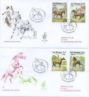 SAN MARINO - FDC VENETIA  2003 - CAMPIONI DELL ' IPPICA  - HORSES - VIAGGIATA - FDC
