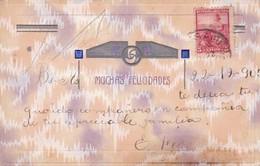 MUCHAS FELICIDADES. POSTALE AVEC RELIEF. CIRCULEEE 1905 BUENOS AIRES,L'ARGENTINE - BLEUP - Fantaisies