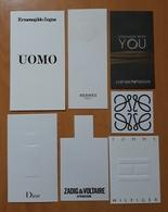 LOTE DE TARJETAS DE PERFUMES. - Perfume Cards