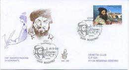 SAN MARINO - FDC VENETIA  2003 - VERONAFIL- VIAGGIATA - FDC