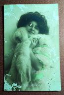 Tsarist Russia Postcard Postage Stamp Chernigov - Pereyaslav 1910 Actress Gudrun Hildebrandt Fashion Furs - Acteurs