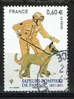 Pompier Avec Chien N°4585 Oblitéré Année 2011 - France