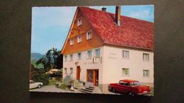 PENSION GASTHOF METZGEREI Josef SCHUPP - WEILER BREMENRIED ALLGAÜ DEUTSCHLAND Vers 1960 Automobile - Publicités