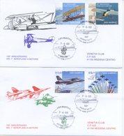 SAN MARINO - FDC VENETIA  2003 - PRIMO VOLO A MOTORE - AEREI - VIAGGIATA - FDC