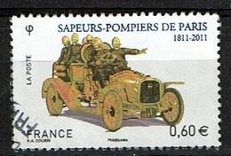 Pompier Véhicule N°4589 Oblitéré Année 2011 - France