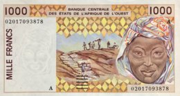 West African States 1.000 Francs, P-111Ak (2002) - UNC - IVORY COAST - Westafrikanischer Staaten