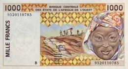 West African States 1.000 Francs, P-211Bf (1995) - UNC - BENIN - Westafrikanischer Staaten