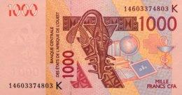 West African States 1.000 Francs, P-715Kl (2014) - UNC - SENEGAL - États D'Afrique De L'Ouest