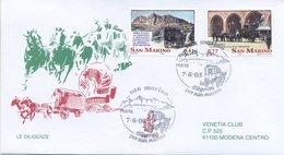 SAN MARINO - FDC VENETIA  2003 - DILIGENZE - VIAGGIATA - FDC