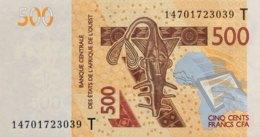 West African States 500 Francs, P-819Tc (2014) - UNC - TOGO - États D'Afrique De L'Ouest