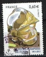 Pompier Casque N°4591 Oblitéré Année 2011 - France