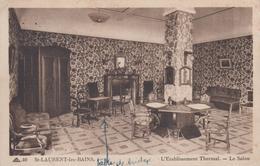 CPA Saint-Laurent-les-Bains - L'établissement Thermal - Le Salon - France