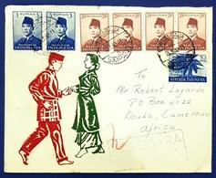 1962 Covers, Surabaja Simpang - Douala Cameroun, Indonesia, Par Avion - Indonesia