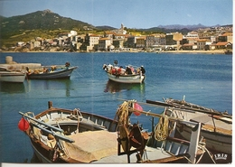 20. (2A). CPM. Corse Du Sud. Propriano. Port De Pêche Et La Ville (animée, Pêcheurs, Barques) - Autres Communes
