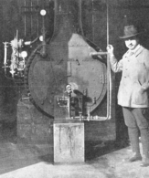 Chaudière Chauffée Au Mazout Jean Steurs Constructeur De Fours  1926 - Non Classés