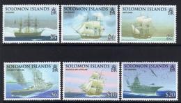 Solomon Islands 2009 - Bateaux Voiliers Explorateurs - 6 Val Neufs // Mnh - Salomon (Iles 1978-...)