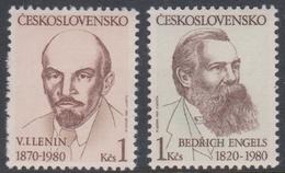 Czechoslovakia SG 2524-2525 1980 Anniversaries, Mint Never Hinged - Unused Stamps