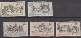 Czechoslovakia SG 2557-2561 1981 Historic Coaches, Mint Never Hinged - Unused Stamps
