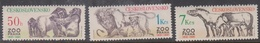 Czechoslovakia SG 2595-2597 1981 50th Anniversary Prague Zoo, Mint Never Hinged - Unused Stamps