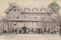 """CPA 14 (Calvados) HONFLEUR / HÔTEL - RESTAURANT """" SAINT SIMEON """" / ANIMEE / PRECURSEUR - Honfleur"""
