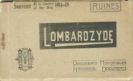 Lombartzijde Mapje Met 10 Postkaarten Lombardzyde Souvenir De La Guerre 1914-18 Ruines - Middelkerke
