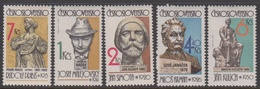 Czechoslovakia SG 2650-2654 1982 Sculptures, Mint Never Hinged - Unused Stamps