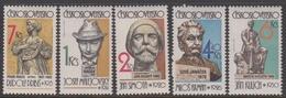 Czechoslovakia SG 2650-2654 1982 Sculptures, Mint Never Hinged - Czechoslovakia