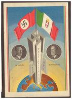 Hitler E Mussolini - Cartolina Celebrativa - Cartes Postales